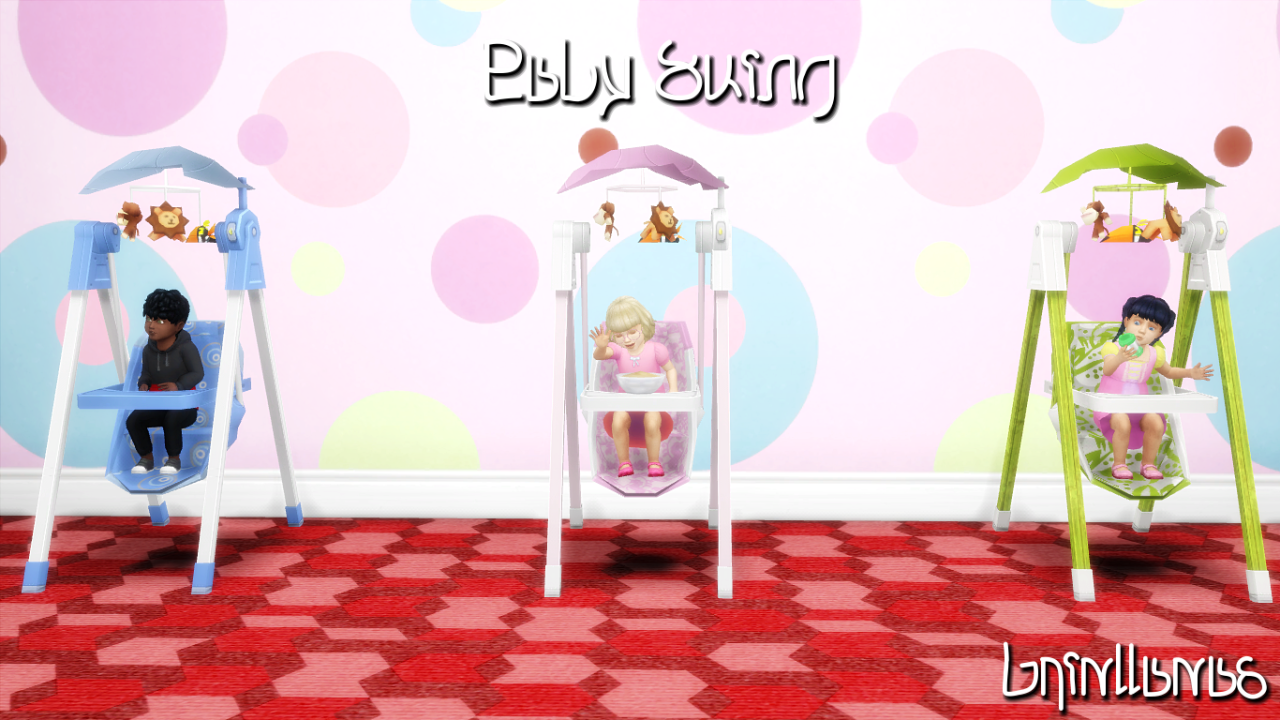 Sims 4 Toddler Stroller Mod Lana Cc Finds 3t4 Baby Swing High Chair Sims Baby Sims