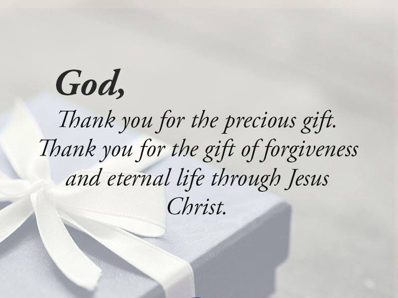 Image result for thank you jesus for the gift