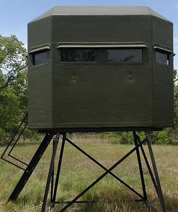 All fiberglass 5ft x 8ft 10ft Tower | Texas Made Deer Blinds