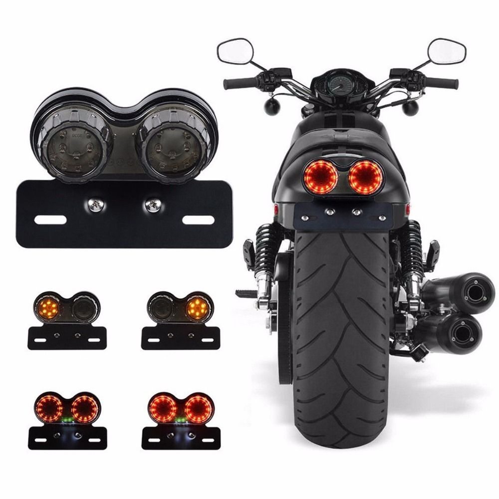 Best Price Motorcycle Turn Signal Brake Led Light License Plate