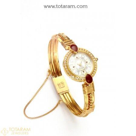 22K Gold Watch - Gold 'TITAN' Watch - Womens Gold Watch - 235-
