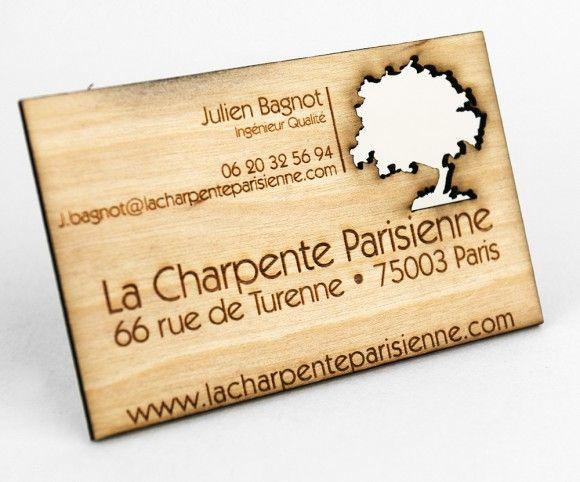 Carte De Visite En Bois Gravee Et Decoupee Au Laser Carte De Visite Carte D Affaire Carte