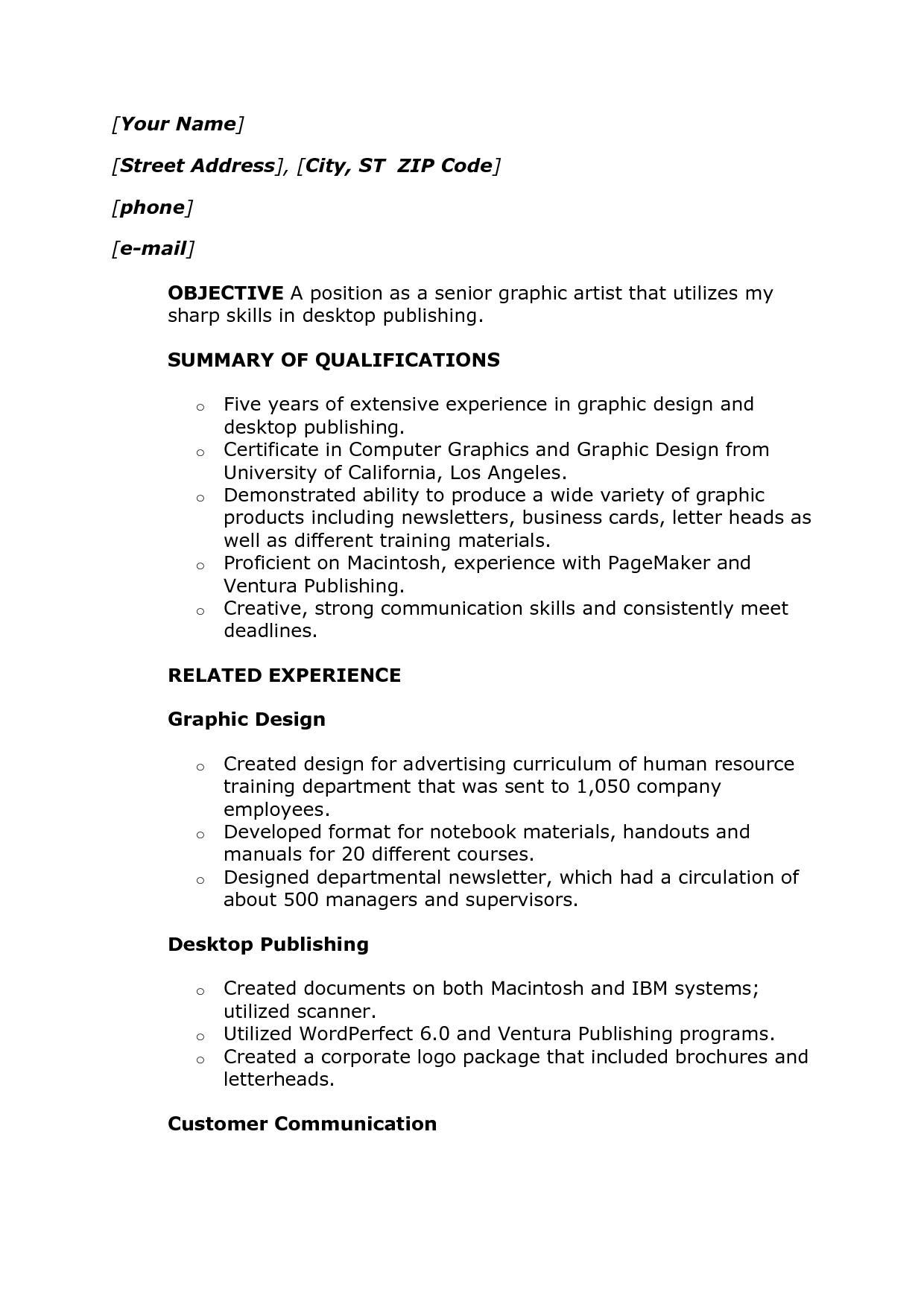 Names 3 Resume Format Sample