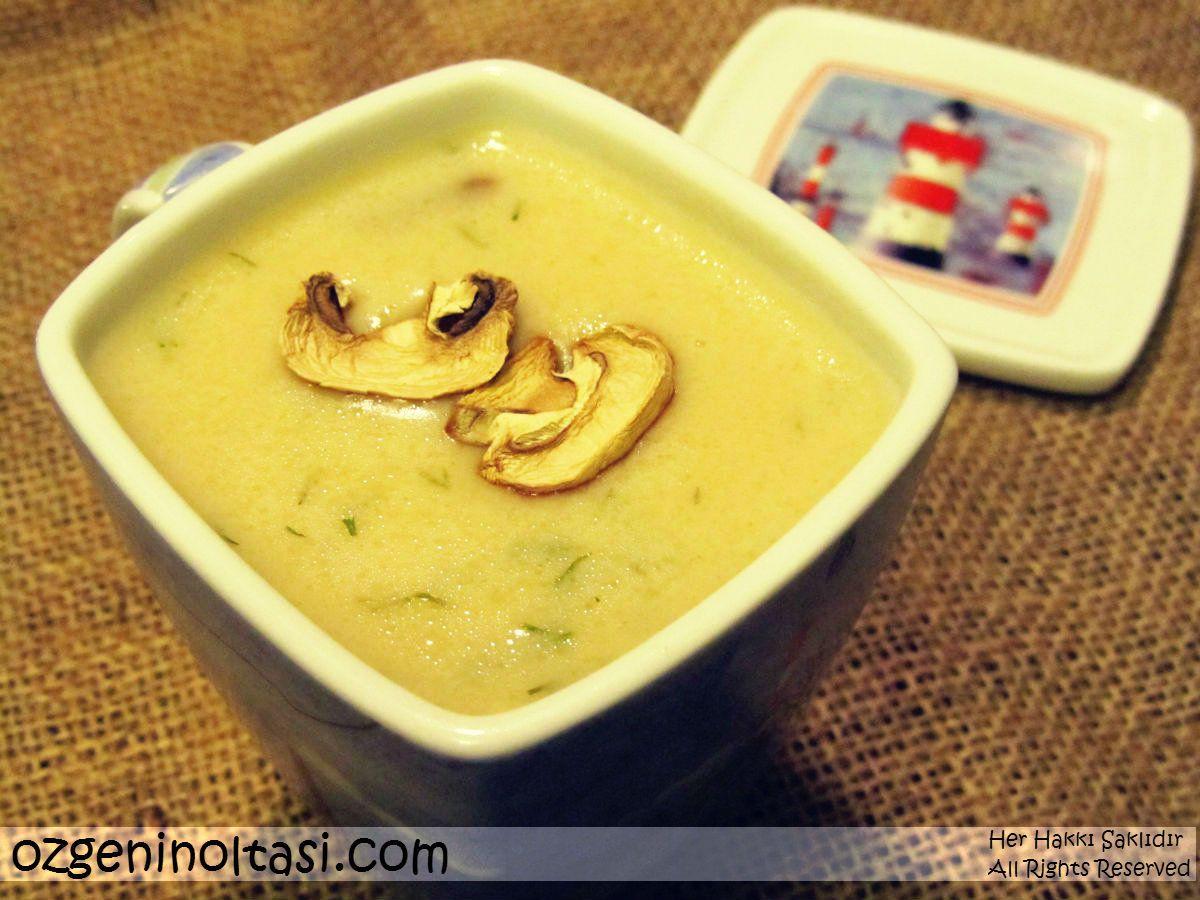 İftar için Kremalı Mantar Çorbası