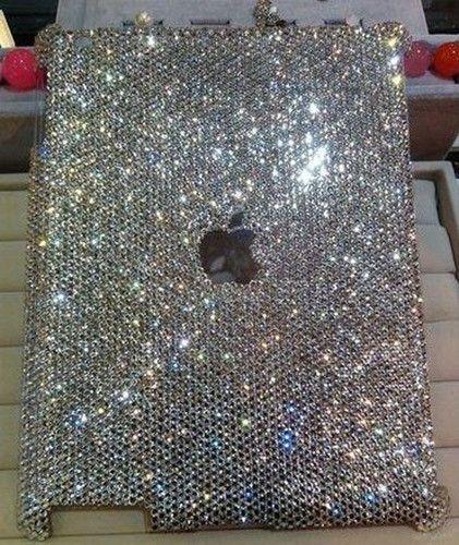 DIY 3D Handmade Bling Sparkle Diamond Resin Crystal for iPad 2 3 4 Case Cover N | eBay