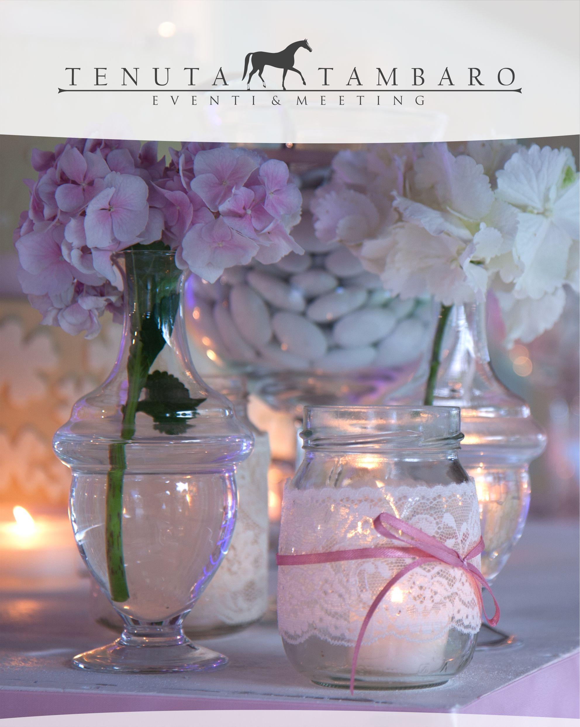 Decorazione - Vasetti decorativi con fiori e porta confetti, piccoli dettagli che fanno grande un evento!