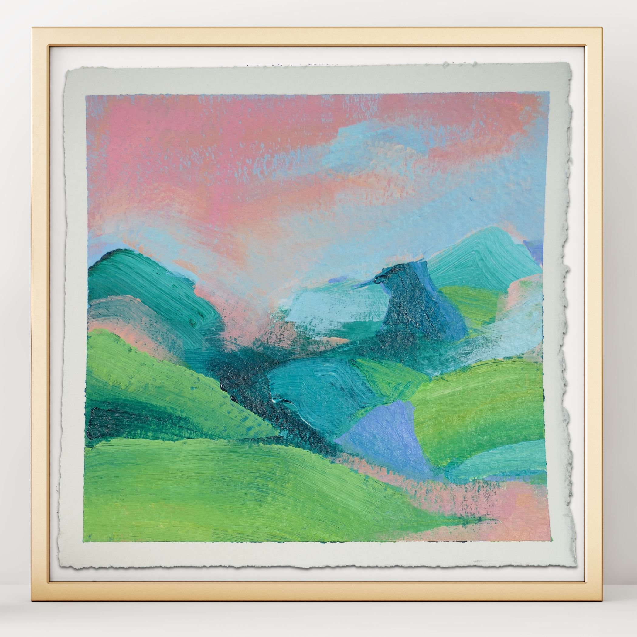 Pink Valley In 2020 Painting Abstract Landscape Painting Pink Art