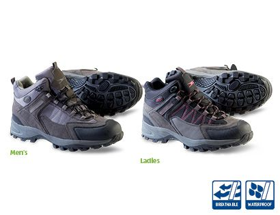 Men's and Ladies Walking Boots - Aldi