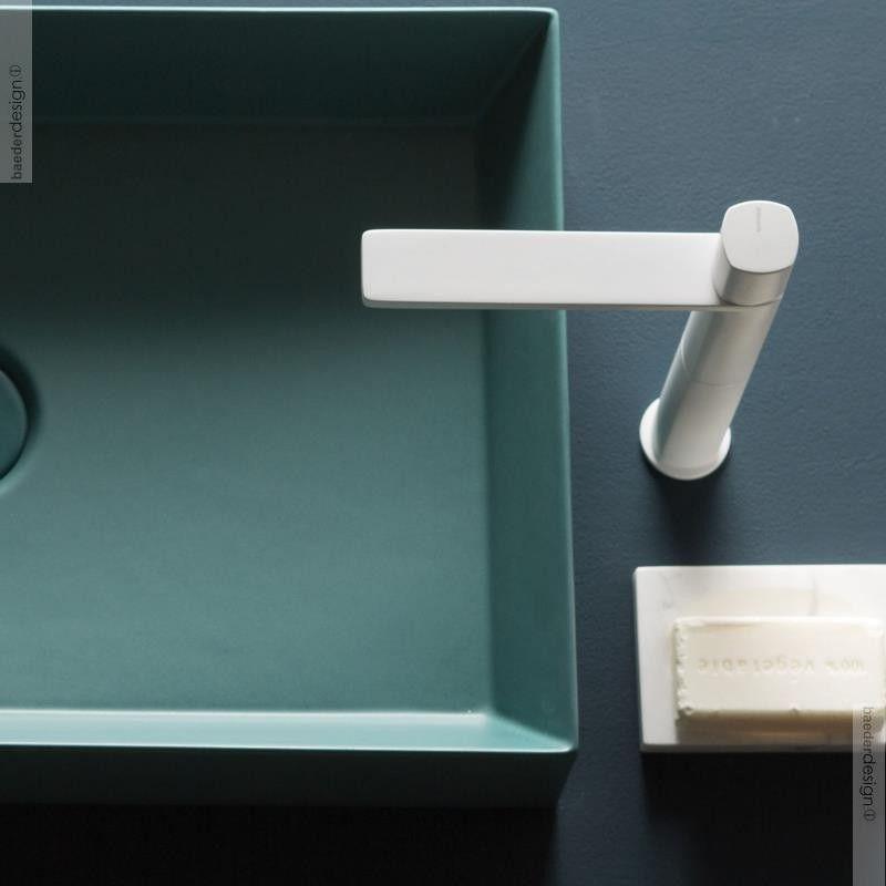 Einhebelmischer Haptic Hoch Weiss Matt Klassische Bader Design Lab Bad