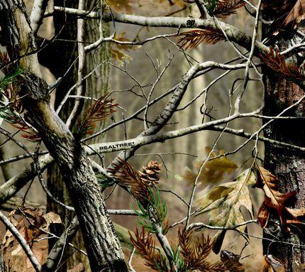 Realtree Wallpaper Kamuflase Stiker