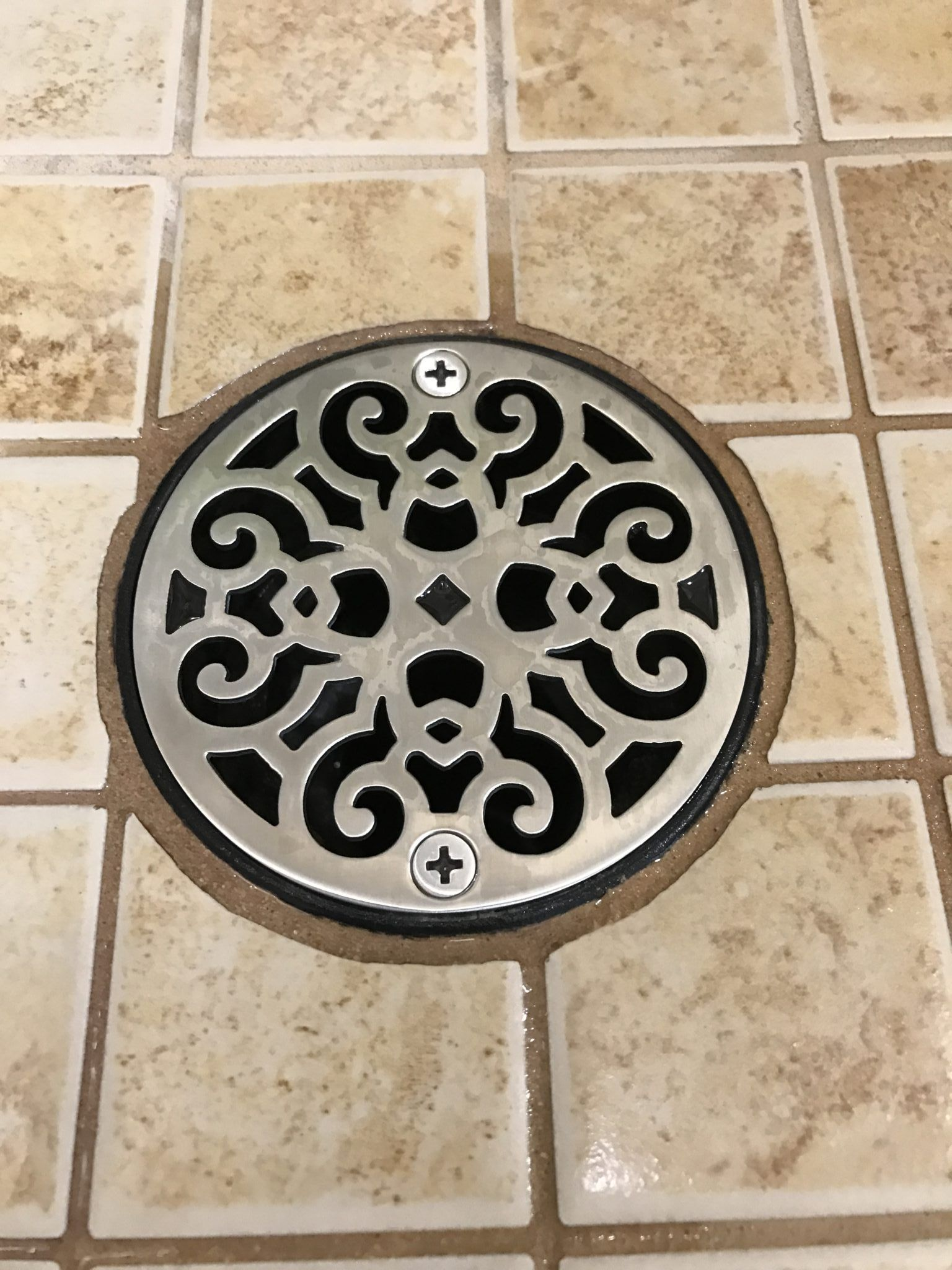 3 25 Inch Round Shower Drain Cover Classic Scrolls No 4
