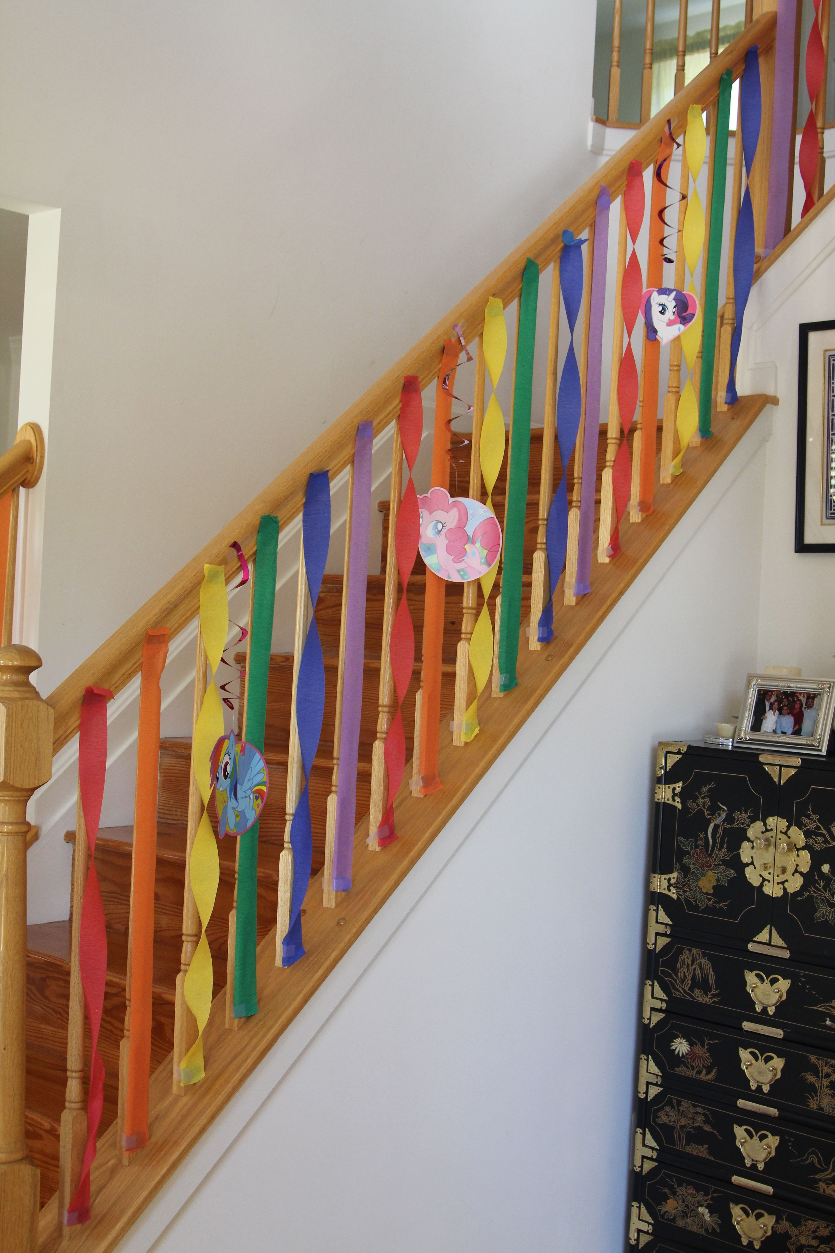 Party Decorating Ideas With Streamers gracie's my little pony rainbow birthday party - streamer