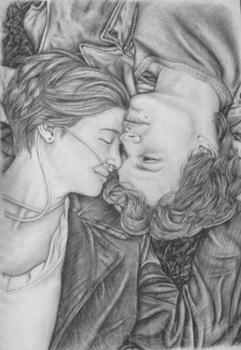 the fault in out stars drawing