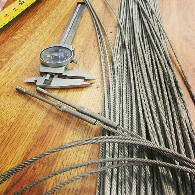 Black Aircraft Cable Wire Rope 1 16 X