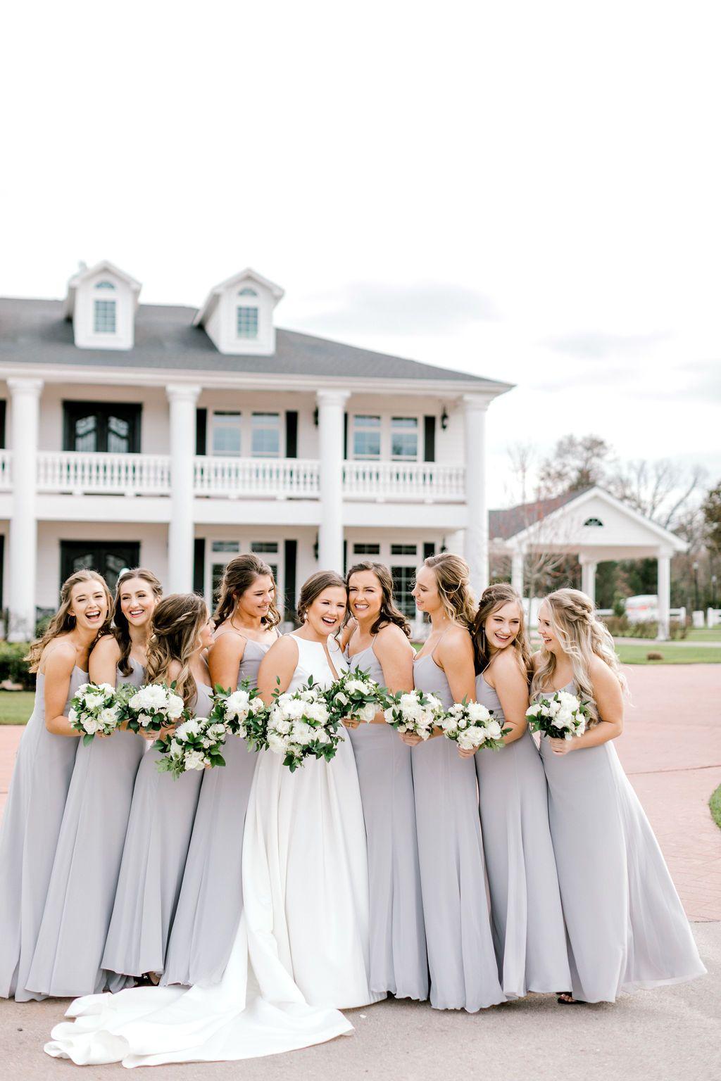 Bridesmaid Dresses Bridesmaid In Pastel Bridal Party Goal Bridesmaid In Light Grey Lig In 2020 Elegant Wedding Venues Dallas Wedding Venues Pastel Bridal Party
