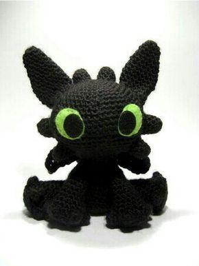 Toothless amigurumi pattern | Crochet patterns amigurumi ...