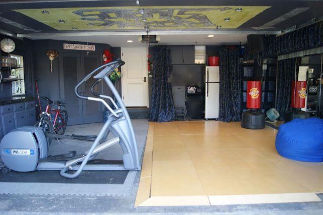 Garage Makeover Turned Gym Space