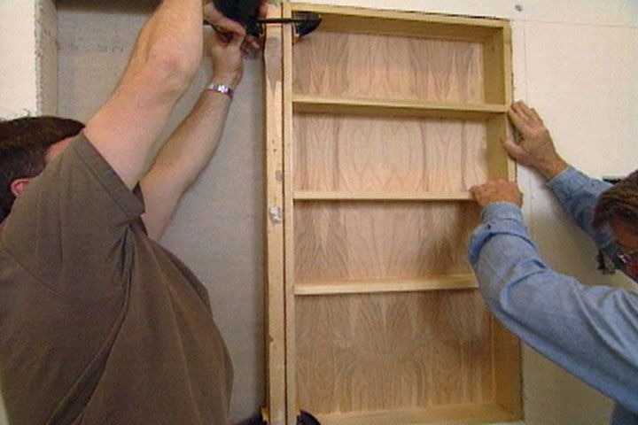 How To Recessed Shelves In Wall Between Studs Includes
