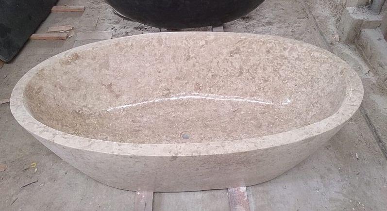 Badewanne Freistehende Wanne Steinwanne Badetopf Badewannen Spa Marmor Stein Becken