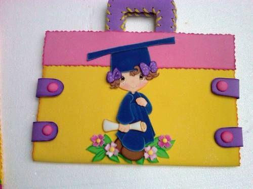 Carpetas Decoradas En Foami Escolares Graduacion Baby