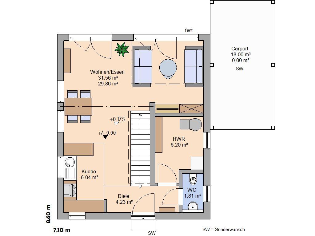 Grundriss wohnen pinterest for Haus grundriss mit garage