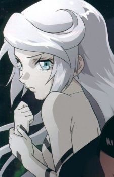 The Anime Character Yuty La Is A Teen With Past Waist Length White Hair And Blue Eyes