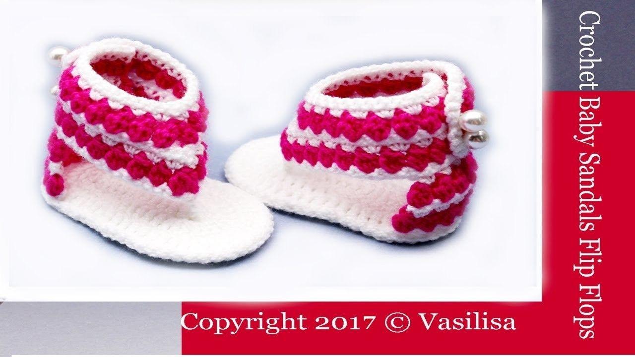 DIY crochet flip flops for beginners.Vasilisa