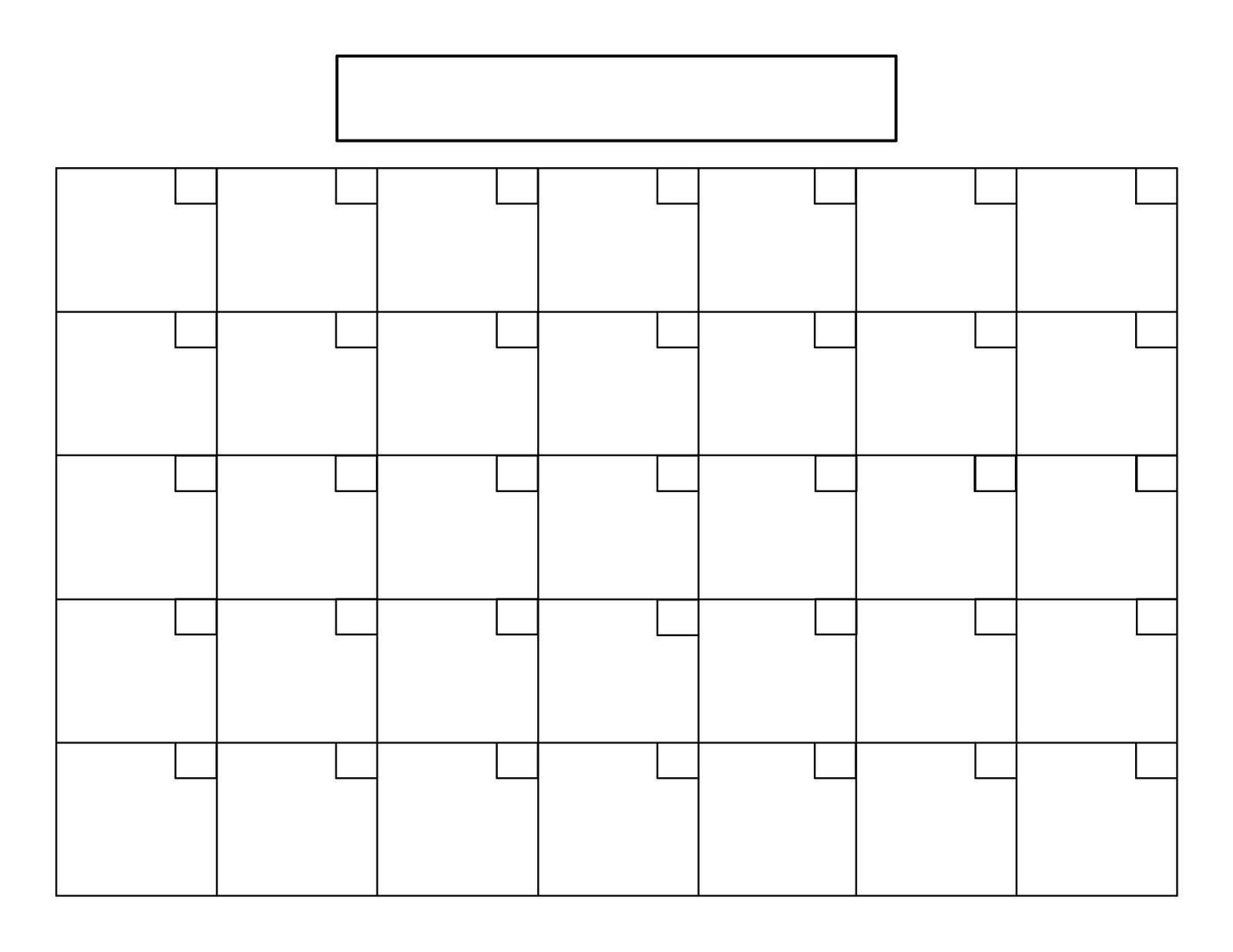 7 Best Images Of Blank Printable Calendar 8 5 X 11