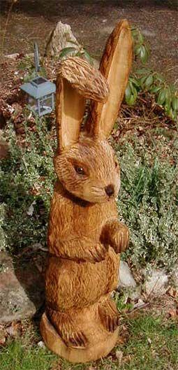 Oster Hase Holz Schnitzen Baum Schnitzen Schnitzen Mit Der Kettensage