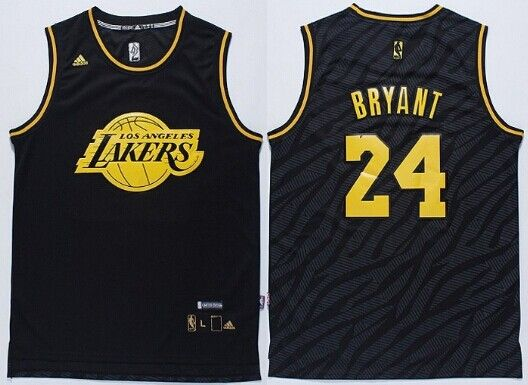 Los Angeles Lakers  24 Kobe Bryant Revolution 30 Swingman 2014 Black With Gold  Jersey 5f3ebbd8f