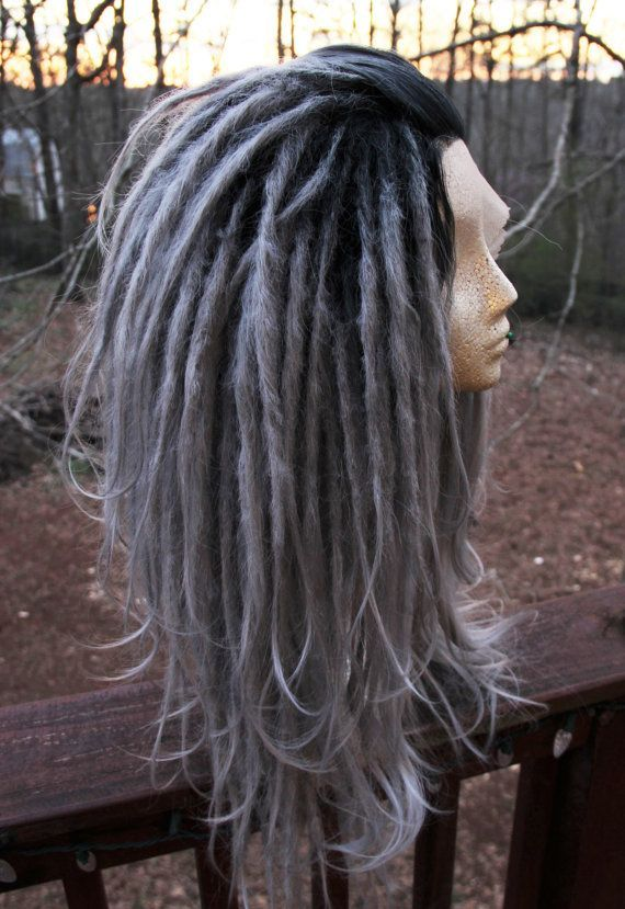 Lace front silver ombre synthetic dreadlock wig synthetic dreads lace front silver ombre synthetic dreadlock wig synthetic dreads wool dreads dreadlocks extensions cosplay festival flow hooping plus pmusecretfo Images