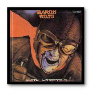 Cuadro con marco negro de aluminio para disco de vinilo / Baron Rojo - Metalmorfosis / #BaronRojo