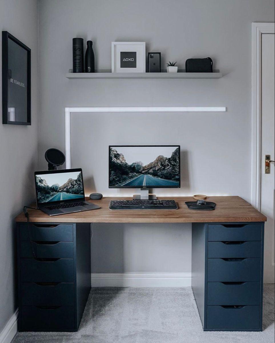 Spawnpoiint Ikea Hack In 2020 Ikea Work Desk Home Office Setup Ikea Study Desk