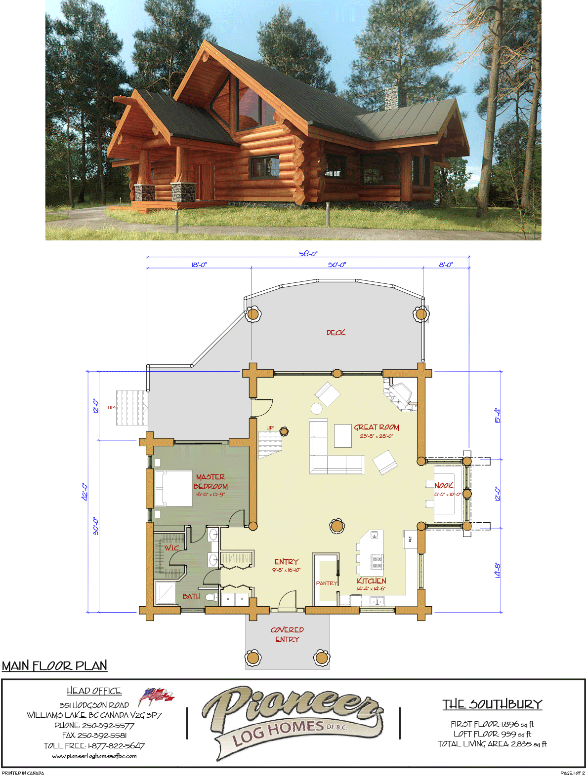 Southbury Pioneer Log Homes Midwest Log Home Floor Plans Log Home Plans Log Homes