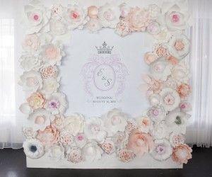 Paper Flowers Wedding Wall On Behance