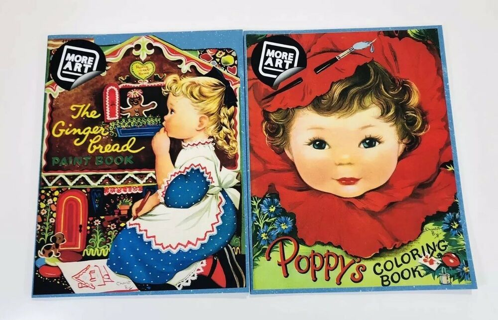 Coloring Book Lot Poppy S Gingerbread Paint Book 2017 Artimorean Retro Ebay Coloring Book Set Coloring Books Painted Books