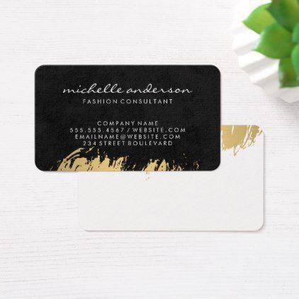 Faux gold brushed black lux business card faux gold brushed black lux business card personalize cyo diy design unique colourmoves