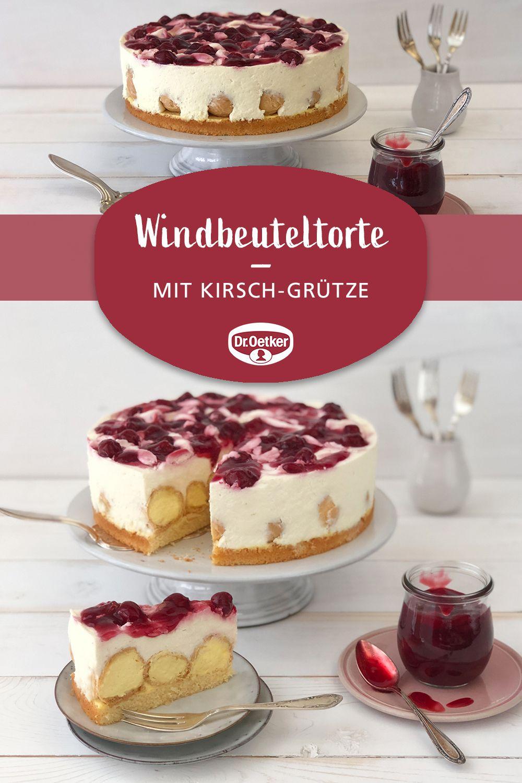 Windbeuteltorte Mit Kirsch Grutze Rezept Windbeuteltorte Lebensmittel Essen Smoothie Rezepte