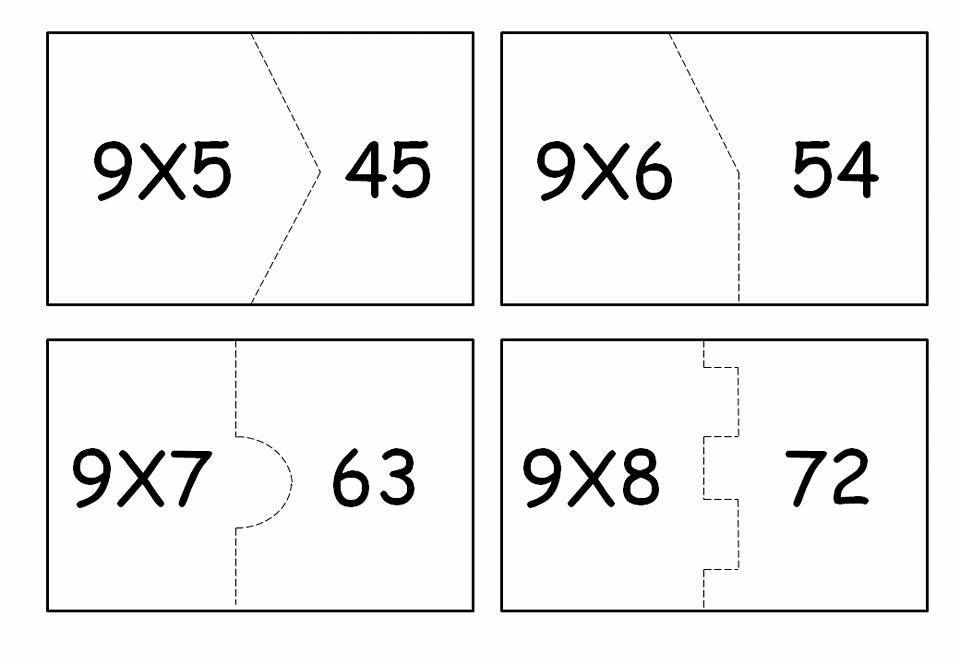 Quebra Cabeca Da Multiplicacao Para Imprimir Tabuada Do 1 Ao 10