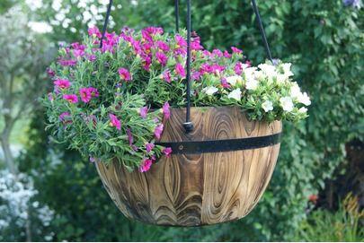 Blumenkubel Britta Rund Hangend Im Obi Online Shop Blumenkubel Blumentopf Blumen