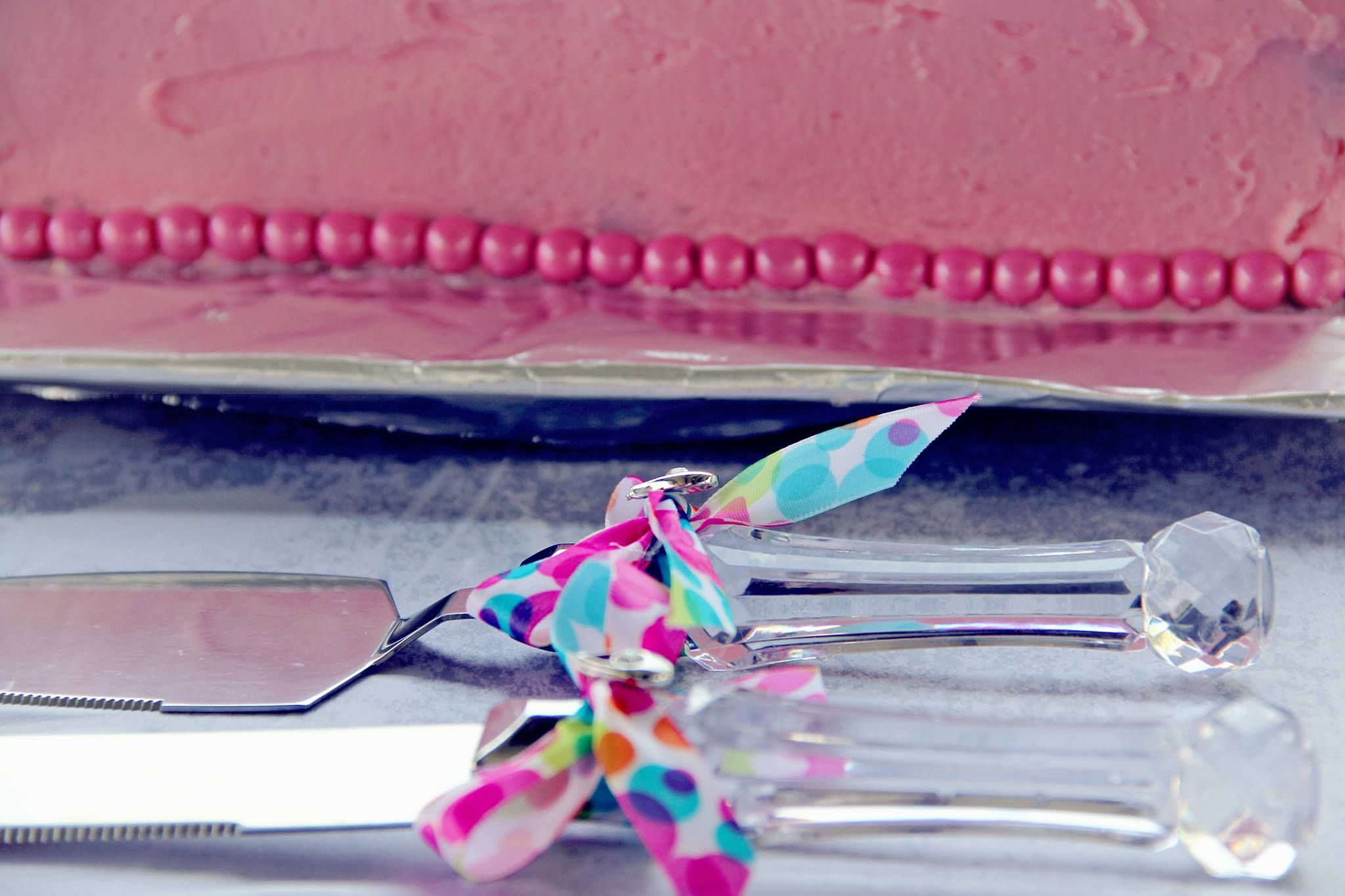 DIY wedding serving set embelishments. Just add ribbon, a hot glue ...