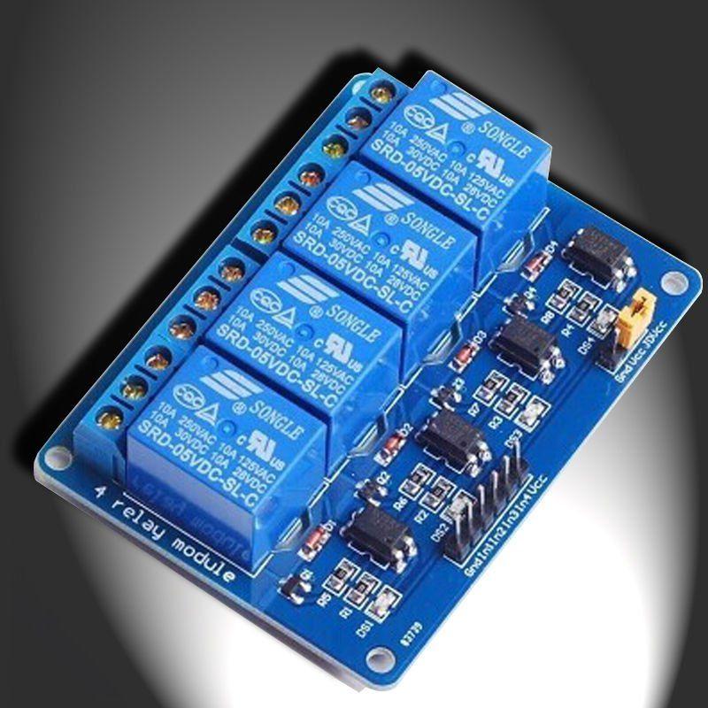 4 Channel 5v Indicator Light Led Relay Module For Arduino Pic Avr