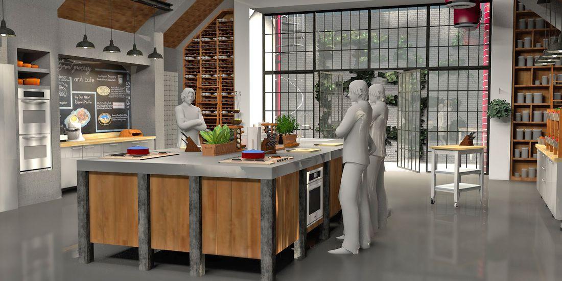 cooking show set - Google Search | Tv set design, Living ...