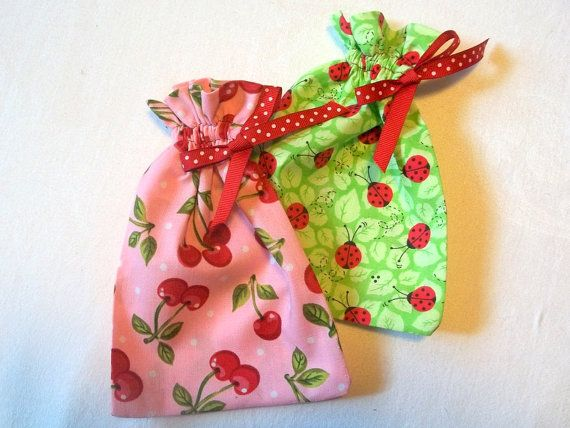 Set of 2 Colorful Gift Bags by tabachin on Etsy, $7.50