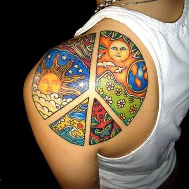 90a984d42 55+ Cool Peace Sign Tattoo Designs & Bedeutungen - Antikriegsbewegung Symbol  (2018) #antikriegsbewegung #bedeutungen #designs #peace #symbol #tattoo