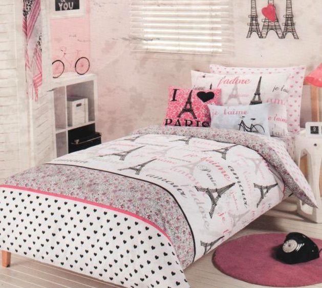 Pink Paris Bedding Details About Paris Chic Eiffel Tower