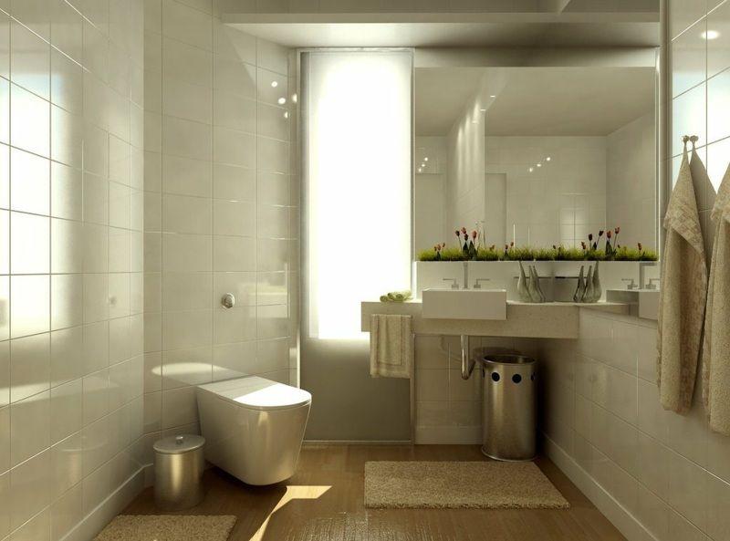 Weißes Badezimmer mit Waschbecken in der Ecke Badezimmer