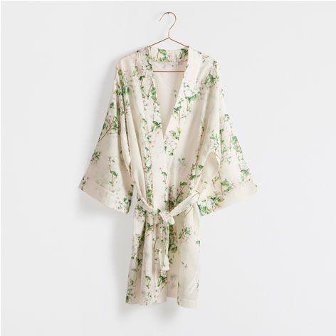 Quimono Estampado Floral - Mulher - Loungewear | Zara Home Portugal