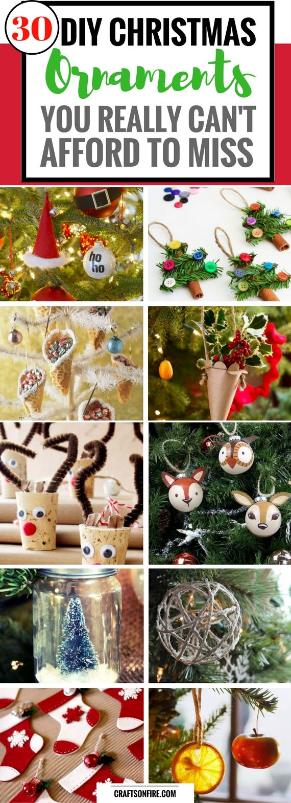 30 Best DIY Christmas Ornaments Anyone Can Make - Craftsonfire