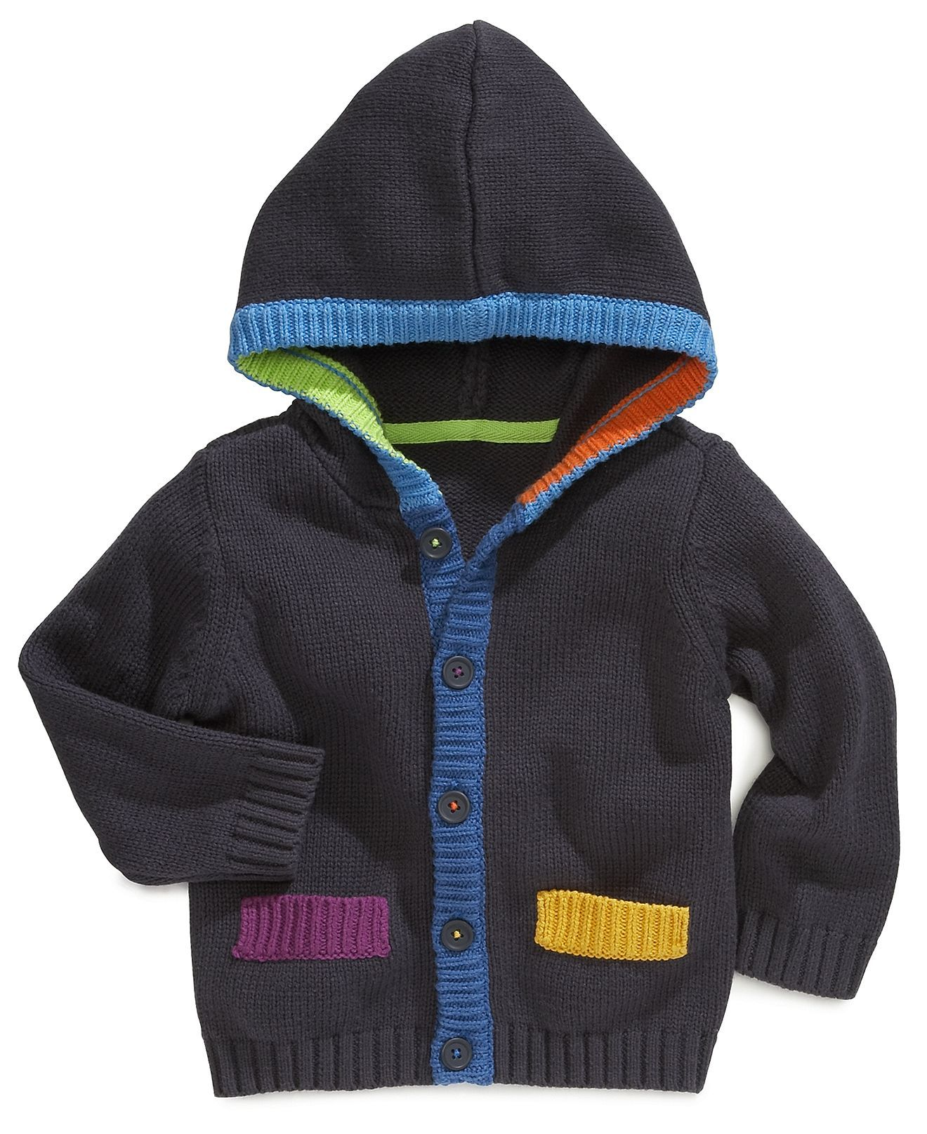 First Impressions Baby Sweater, Baby Boys Hooded Cardigan - Kids ...